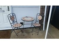 Cast iron table and chairs beautiful set £80