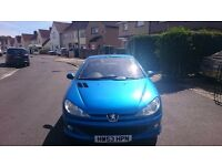 Peugoet 206cc, low mileage, excellent condition, long mot