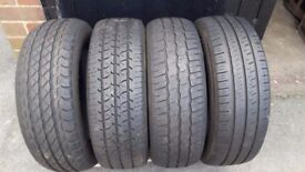 "16"" VAN LOAD RATED TYRES 205/65/16c price for 4 road legal treads"