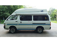WARRANTY NEW REBUILT ENGINE 5 SPEED 4X4 TOYOTA HIACE 4 BERTH CAMPERVAN NEW MOT NO RUST SOLID CHASSIS