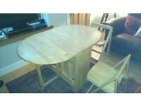 Next oak butterfly table & 4 chairs