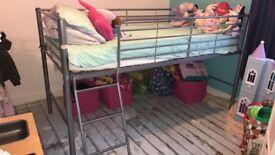 Mid high sleeper with mattress