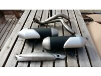Triumph speed triple motorcycle exhaust
