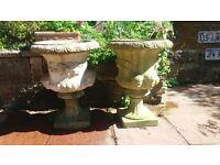 Two garden urns...good condition.will split.