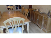 Used Dining Table,chairs,cabinet&sideboard excellent condition.