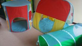 ELC pop up tunnel and tents