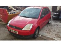 BREAKING FORD FIESTA FINESSE MK6 RED 2003 3DR MOST PARTS AVAILABLE