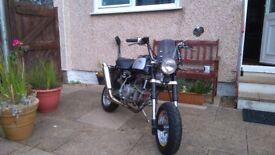 Custom monkey bike. 160 race engine fitted.Not kmx dtr cbr.