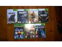 7 Xbox 360 Games, all in very good condition and fully functional
