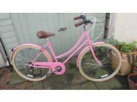 Ladies Bobbin Metropole Bicycle in baby Pink