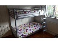 metal bunk bed, good quality, without mattresses