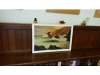 vintage seascape painting signed