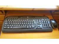 Logitech keyboard and mouse. Good condition