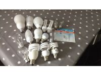 Set of 17 Light Bulbs - all working order, new