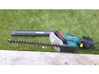 Parkside hedge trimmer with blade guard