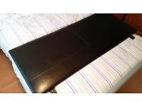 Brown Faux Leather Headboard