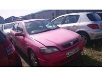 2004 VAUXHALL ASTRA ACTIVE, 1.6 PETROL, BREAKING FOR PARTS ONLY, POSTAGE AVAILABLE NATIONWIDE