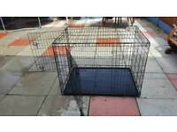 x large dog cage with two doors
