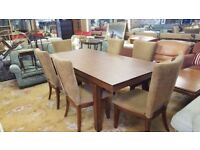 Solid Oak Extendable Dining Table & 6 Chairs With Added Extras Bought In America