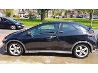 Black Honda Civic Type S 2007(57), 1.8 i-VTEC, 3dr, Petrol, Manual, FHSH, Bluetooth, MOT to Sept 18