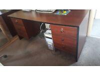 Mahogany Rosewood style double pedestal desk