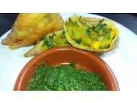 Samosas for parties, catering, retail, home delivery in Swindon, in the Swindon Advertiser