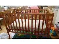 Wooden Baby Cot.