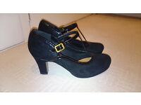 Clarks Chorus Tempo Black Suede heels size 5 - £35 ono (RRP £65)
