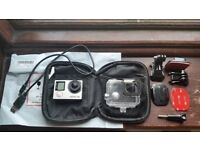 GoPro Hero 4 BLACK 4K with case accessories and new battery