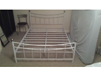 Nice metal frame double bed