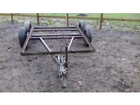 TRAILER twin wheels chassis
