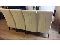 Leather Dining Table Chairs