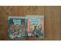 Playstation 3. Guitar Hero Aerosmith and Guitar Hero 111 Legends of Rock