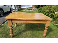 Pine Dining Table & 4 Chairs. £100