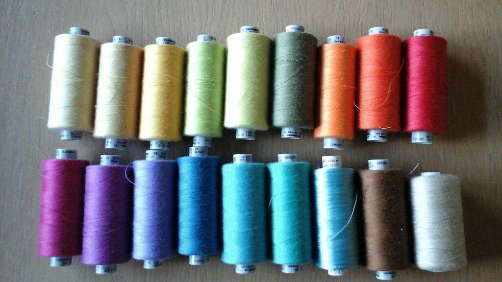 18 spools of guterman machine thread varios colours as shown