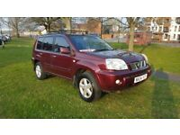 2X4 04-2004-X-TRAIL 2184cc TURBO DIESEL- ONLY 1 PREVIOUS OWNER AND 89,000 MILES FROM NEW=£1495.00