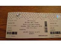 Alien Ant Farm 2 tickets (rock city Nottingham)