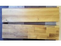 2 wooden shelves