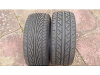 2 x 235/45/17 Tyres ( used )