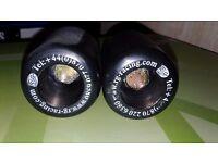 R&G crash protectors fits GSXR 600 / 750 K1-K3 mushrooms black