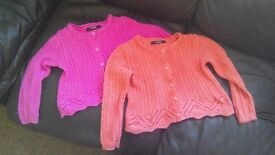 2x cardigans - size 4-5 years