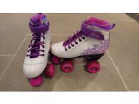 SFR VISION II quad roller skates, size 2 UK – purple (RRP £39.95)