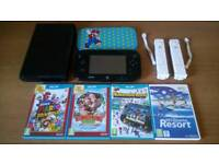 Nintendo wii u 32gb with 4 games 3 controller's all leads from a smoke free home
