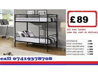 METAL BUNK BED WITH Mattresses