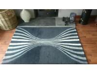 Black leaf rug from Next