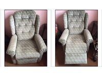2 x HSL arm chairs (nearly new) 1 recliner/raiser - 1 ordinary arm chair