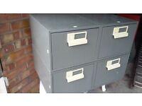 Bisley 2 x 2 drawer filing index cabinet office for tools float dvd cd locker