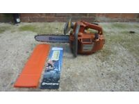 Husqvarna powerful top handle chainsaw