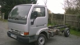 nissan cabstar 12ft cab and chassis