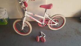Girl terrain 16inches bike with stabilisers